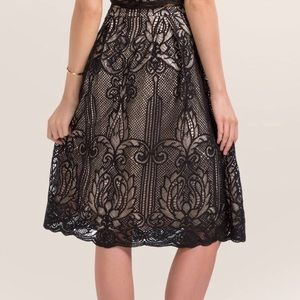 Francesca's Malika Lace Midi Skirt